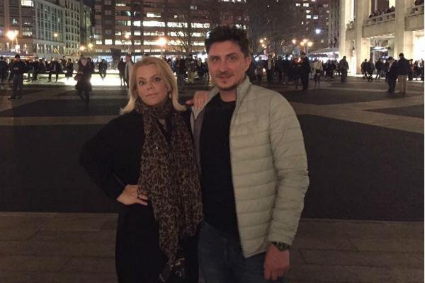 Яна Поплавская и Евгений Яковлев во время путешествия в Нью-Йорк