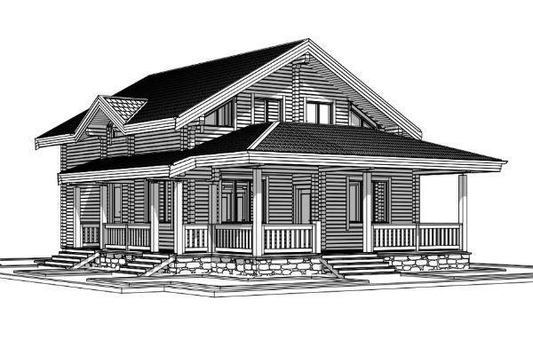 Инна разрабатывала дизайн дома вместе с опытными архитекторами