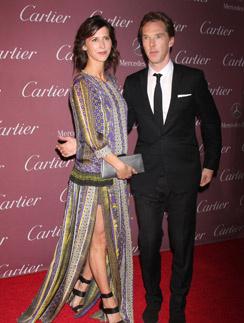 Бенедикт Камбербэтч и Софи Хантер на кинофестивале Palm Springs Film Festival Gala 2015