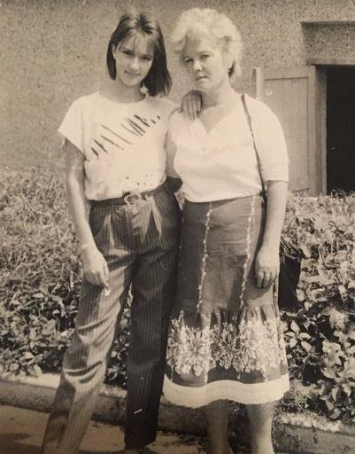 Лера Кудрявцева с мамой Александрой Ивановной