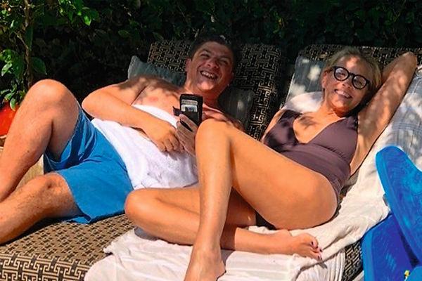 Шэрон и Энцо на отдыхе в Беверли-Хиллз
