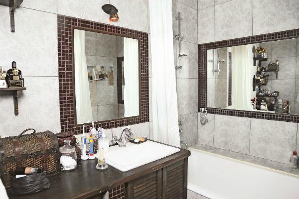 В ванной установлен пол с подогревом