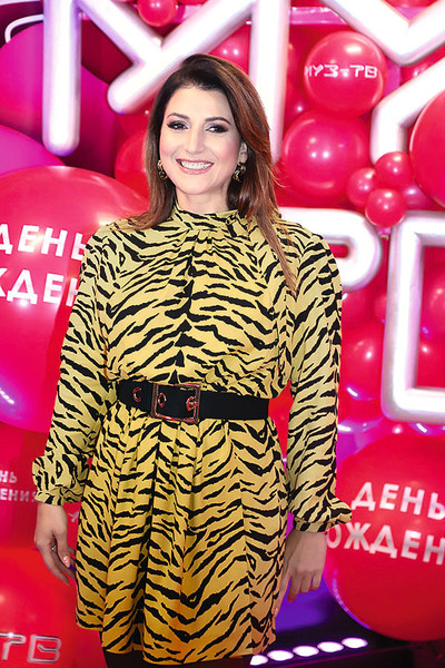 Певица на праздновании дня рождения канала МУЗ-ТВ