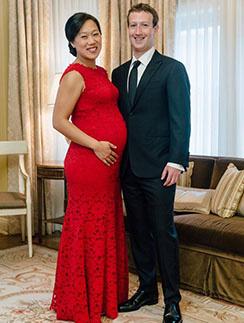 Марк Цукерберг и его супруга Присцилла Чан