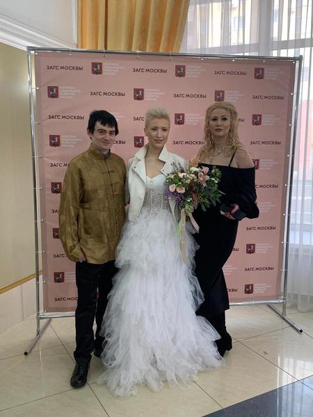 Молодожены с Дианой Бичаровой