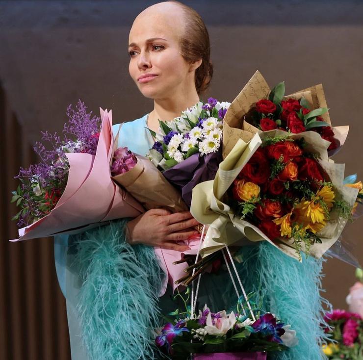 Екатерину Гусеву не так просто узнать в необычном гриме