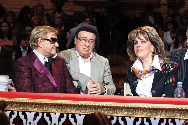 С Любовью Казарновской и Романом  Виктюком на шоу «Первого канала»  «Призрак оперы»
