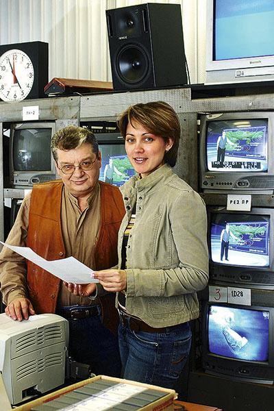 С шеф-редактором «Прогноза погоды» Ириной Поляковой