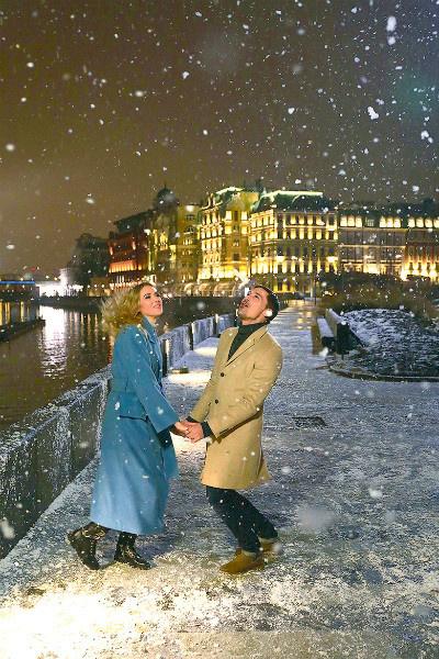 Дима Билан и Ксения Сухинова. Из студий и концертных залов артисты переместились на улицу