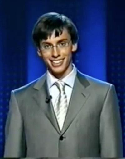 Галкин в роли ведущего «Кто хочет стать миллионером?», 2001 год