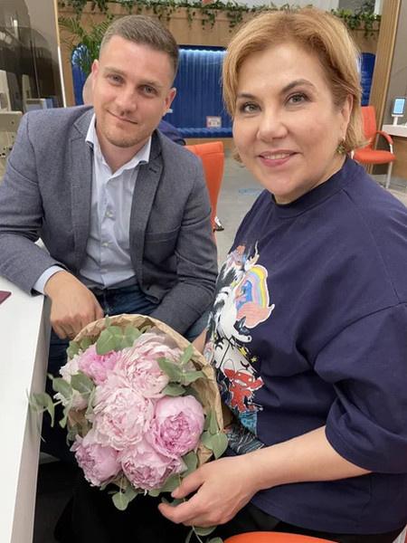 Марина Федункив с мужем Стефано Маджи
