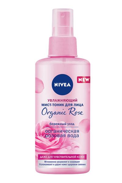Используйте увлажняющий спрей-тоник NIVEA Organic Rose Moisturizing Mist-Tonic в любое время, он успокоит и устранит следы усталости