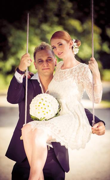 Лена Катина с мужем Сашо
