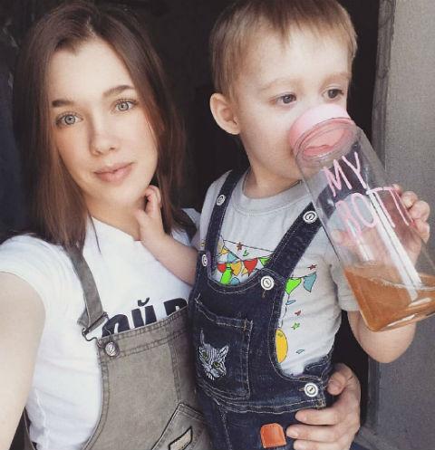 Инна Кочеева с сыном