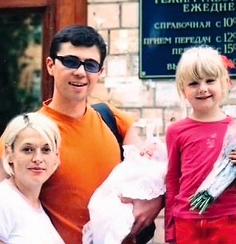 Сергей Бодров с семьей