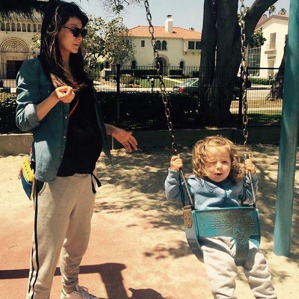 Марина со своей дочерью Брианой, появившейся на свет в 2014 году