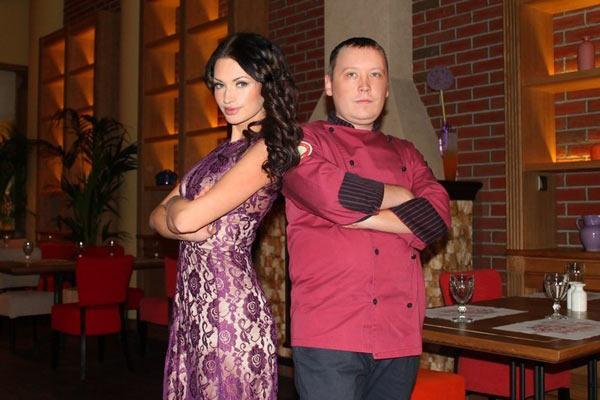 Евгения Феофилактова с шеф-поваром Сергеем Васильевым