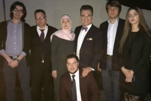 Березин с семьей отца
