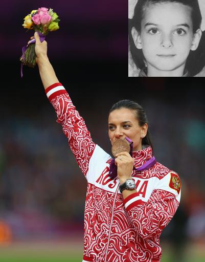 Прыгунья с шестом Елена Исинбаева