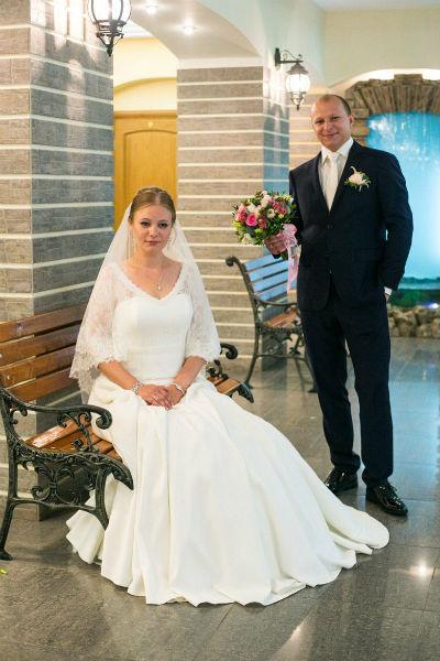 Дарья и Павел в день свадьбы