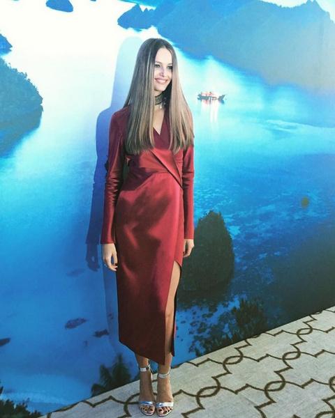 Кристина Романова впервые вышла в свет после родов