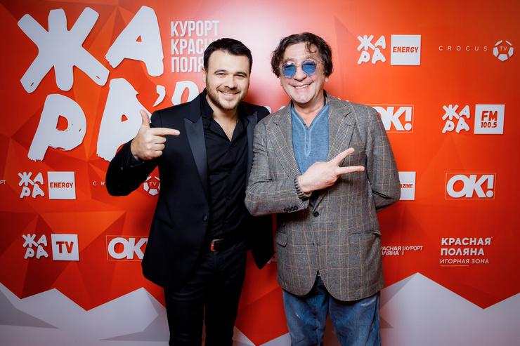Организаторы фестиваля: Эмин и Григорий Лепс