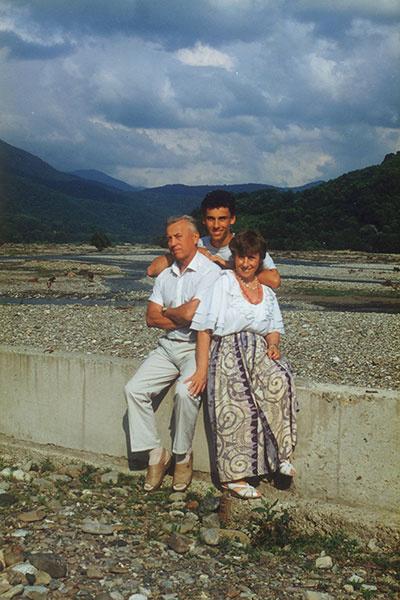 Галкин с отцом Александром Александровичем и мамой Натальей Григорьевной