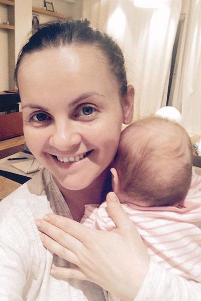 Юлия Проскурякова с дочкой