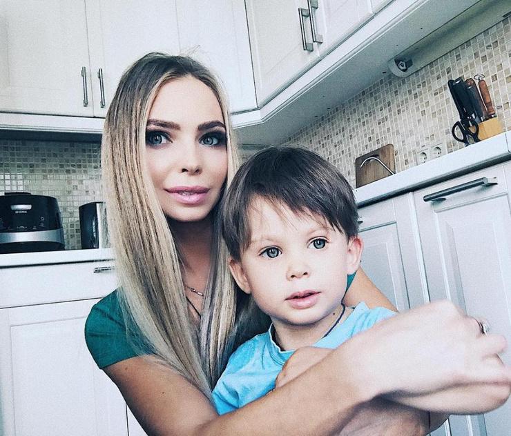 Наталия Горчакова с сыном