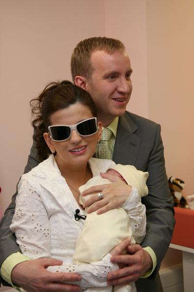 Спустя два года после свадьбы у супругов родился сын Костя