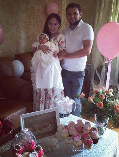 Илана Юрьева с мужем Дмитрием и дочерью Дианой