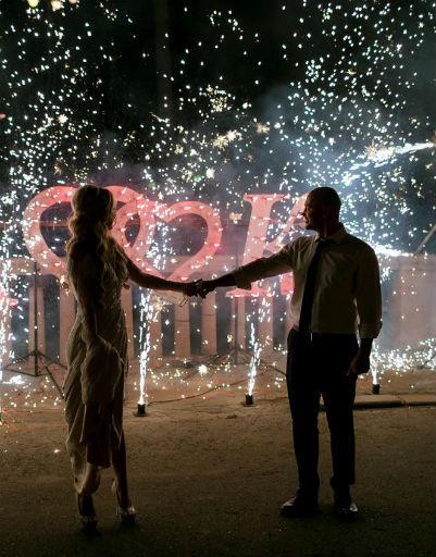 Свадьба закончилась фейерверком