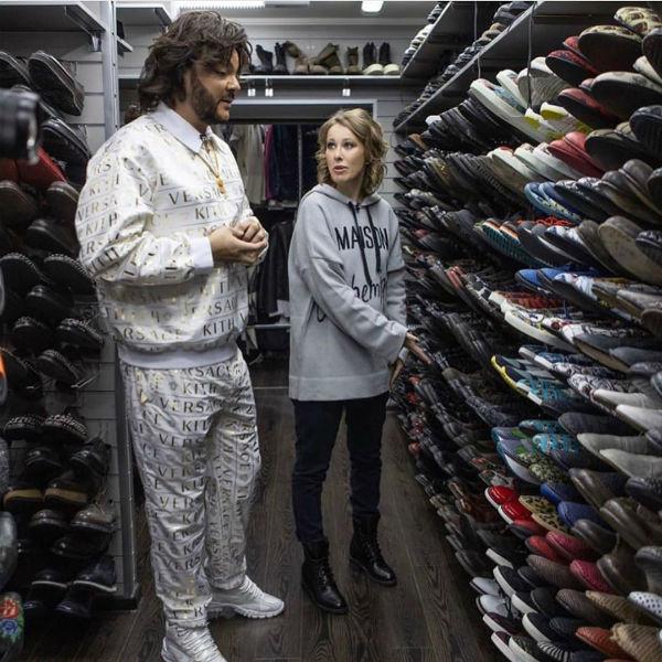 Филипп Киркоров показал гардероб Ксении Собчак