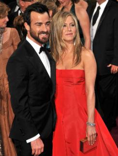 "Джастин Теру и Дженнифер Энистон на церемонии ""Оскар"""