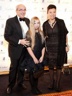 Александр Добровинский с женой Мариной и младшей дочерью Адрианой