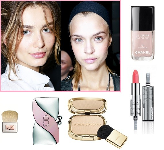Модели Vera Wang 2014, Michael Kors 2014. Лак для ногтей Chanel #167, Палетка теней Dior, Пудра Dolce&Gabbana, Помада Givency #36