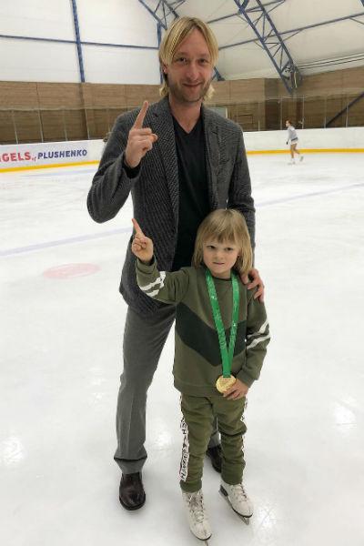 Евгений Плющенко гордится сыном