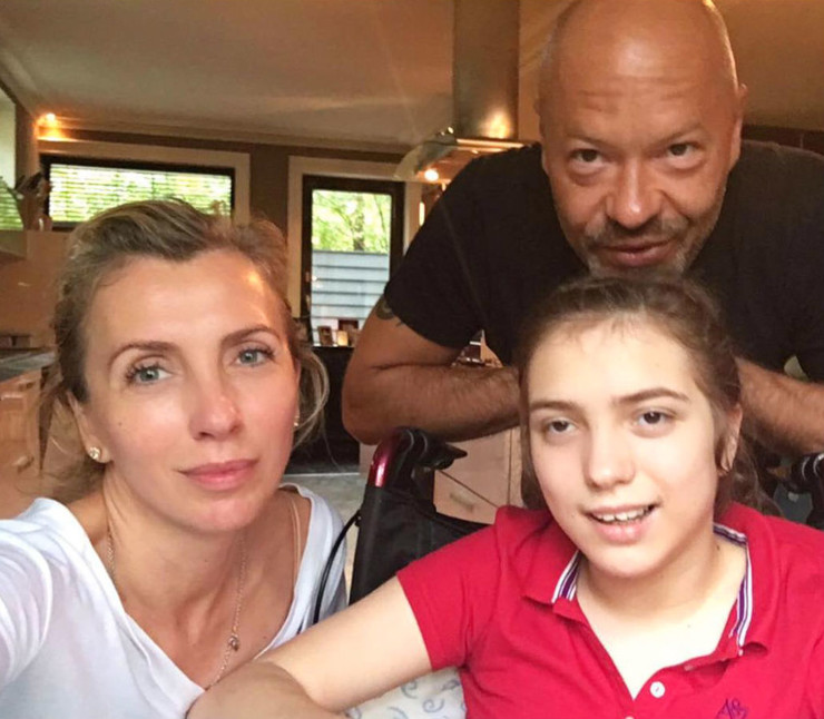 Светлана и Федор Бондарчук с дочерью