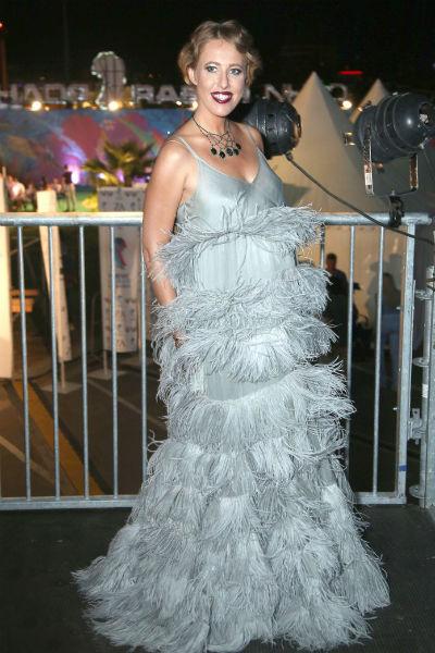 Ксения Собчак на открытии фестиваля «Новая волна»