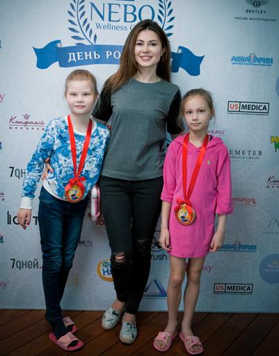 Ольга Ушакова с детьми