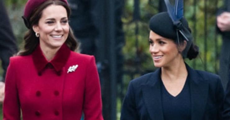 Елизавета II заставила Кейт Миддлтон и Меган Маркл помириться