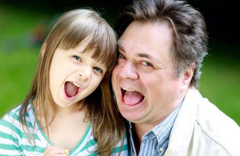 Андрей Леонов с дочерью Аней