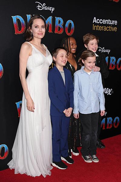 Актриса с детьми