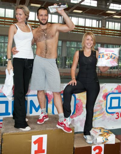 Элина присоединилась к Алексею на пьедестале, а Оксана Ряска заняла третье место