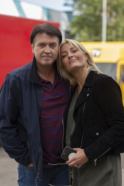 Денис Матросов и Евгения Ахременко на съемках «Слепого поворота»