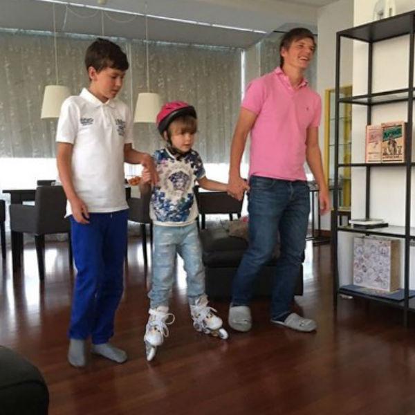 Андрей Аршавин отлично ладит с детьми возлюбленной
