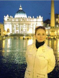 Лена Катина в восторге от Рима