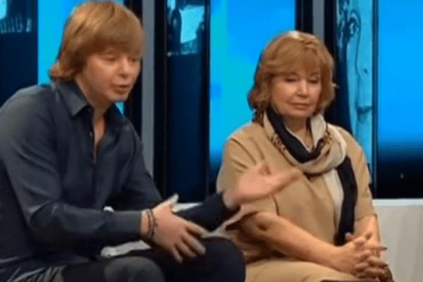 Андрей Григорьев-Аполлонов и мать Сорина Светлана
