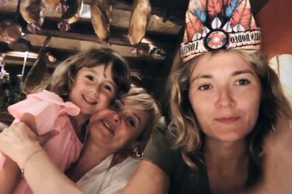 Анна с сестрой Надеждой и дочерью Лидой