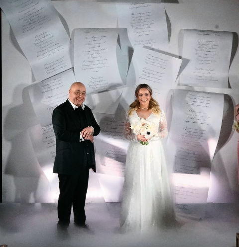 Перед началом торжества Доминик и Катя обменялись клятвами любви и верности